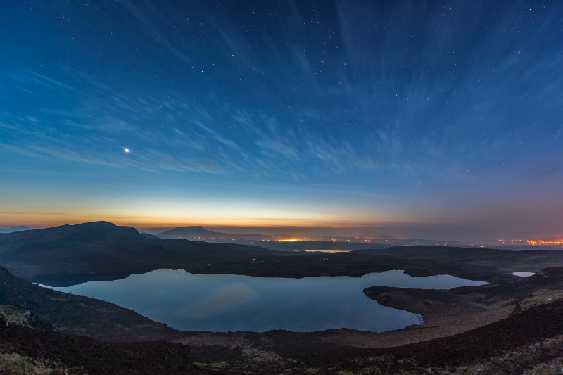 The brightness of Venus - Donegal's Sky at Night