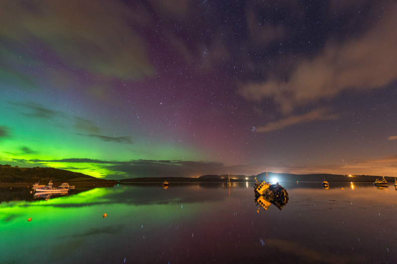 Boat Yard Downings - Donegal's Sky at Night
