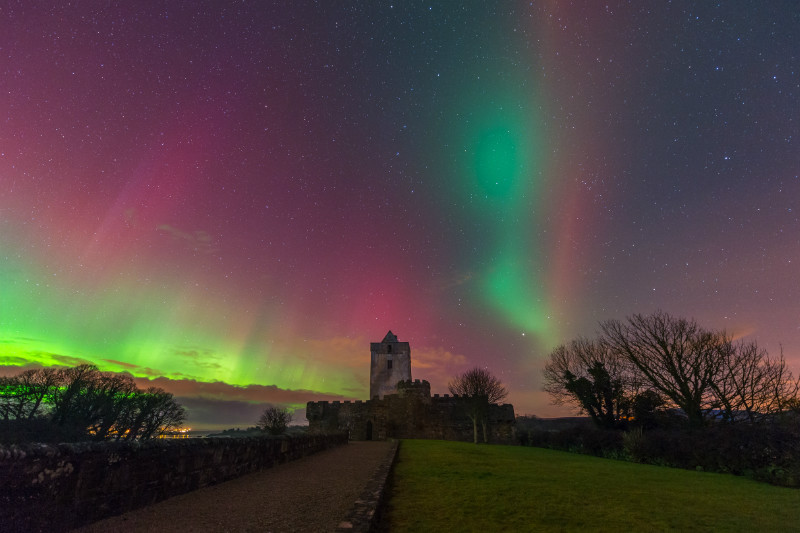 Doe Castle Aurora - Donegal's Sky at Night