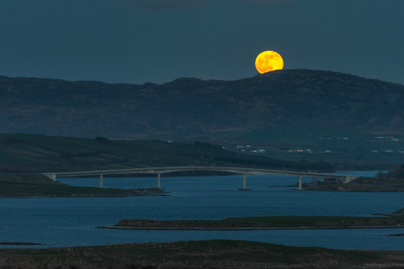 Moonrise, Harry Blaney Bridge. - Co. Donegal