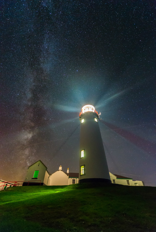 Milky Way Fanad Lighthouse - Donegal's Sky at Night