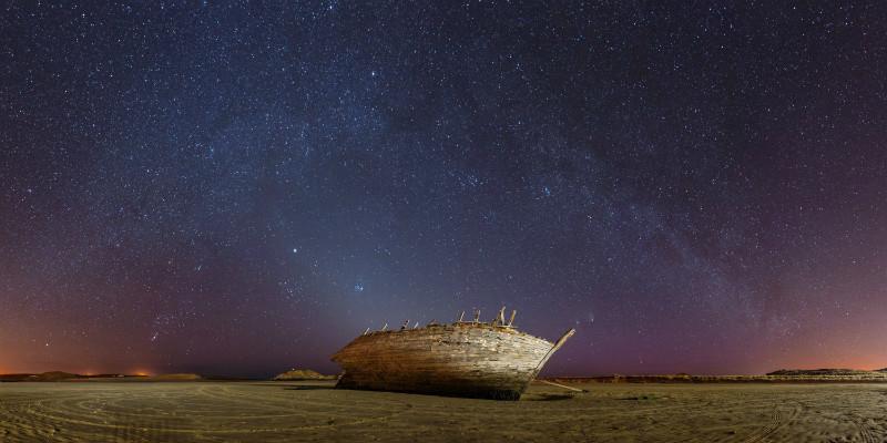 Bunbeg Wreck. - Donegal's Sky at Night
