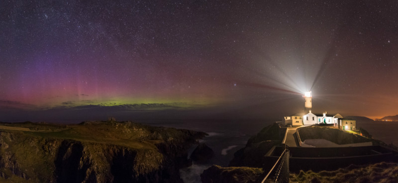 Through the Mist Aurora - Donegal's Sky at Night