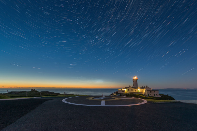 Fanad Star Trails - Donegal's Sky at Night