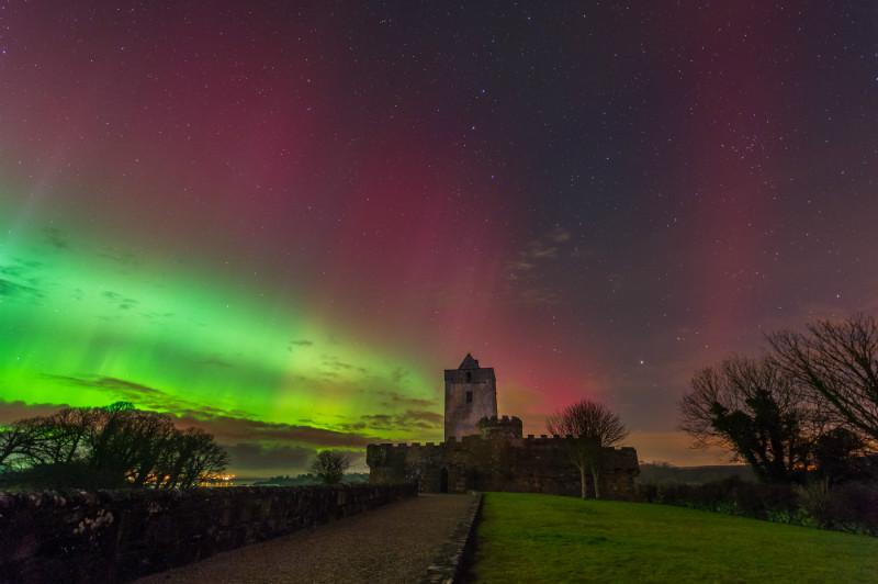 Aurora Borealis Doe Castle - Donegal's Sky at Night