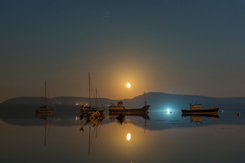 Misty Moonrise - Donegal's Sky at Night