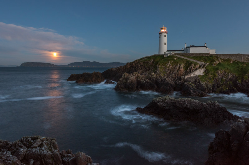 Moonrise Fanad Lighthouse - Co. Donegal