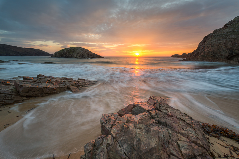 The Murder Hole - Setting Sun - Co. Donegal