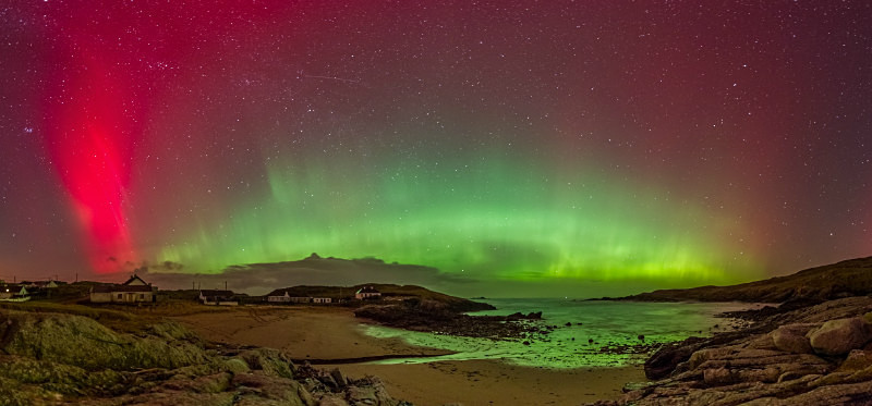 Aurora Borealis over Dooey Beach. - Donegal's Sky at Night