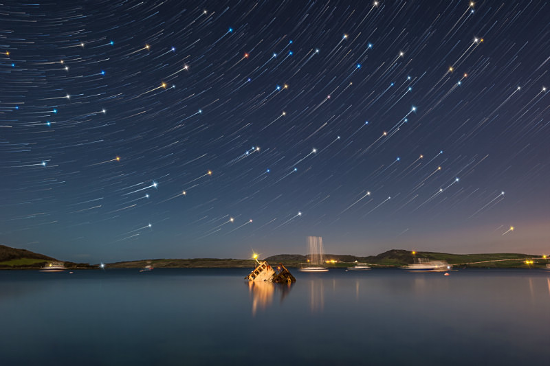 Star Trails Lareasa - Donegal's Sky at Night