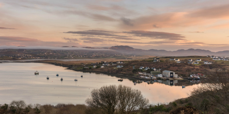 Boat Yard Sunset - Co. Donegal
