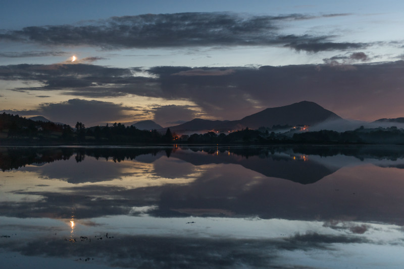 Moonset Sheephaven Bay Muckish Mountain - Co. Donegal
