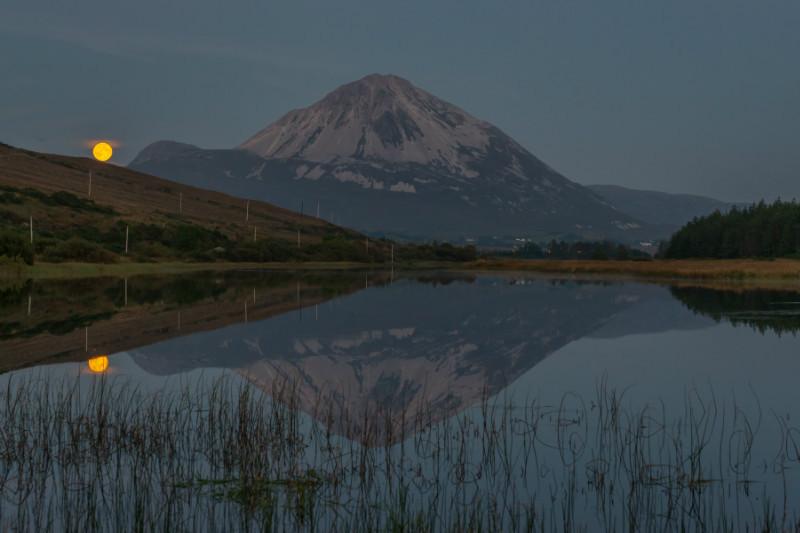 Harvest Moonrise Errigal - Donegal's Sky at Night