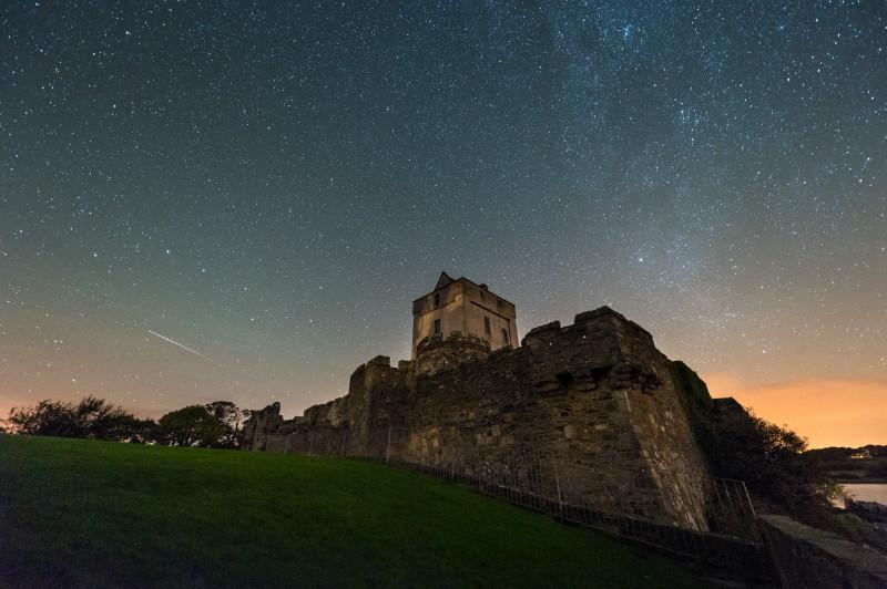 Starry Sky Doe Castle - Donegal's Sky at Night