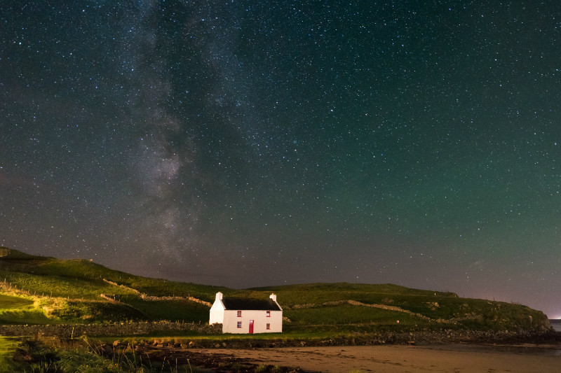 Cottage By The Sea - Donegal's Sky at Night