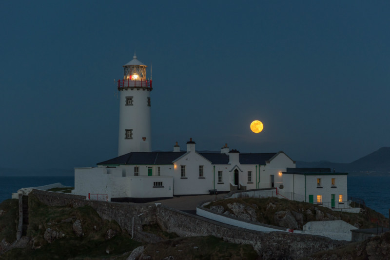 Moonrise, Fanad Head Lighthouse. - Co. Donegal