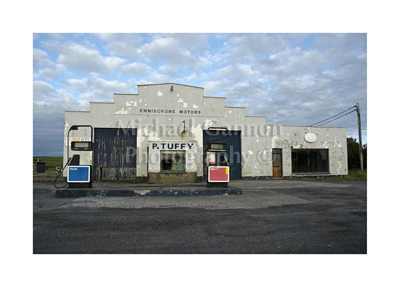 Enniscrone Co Sligo - Derelict Petrol Pumps