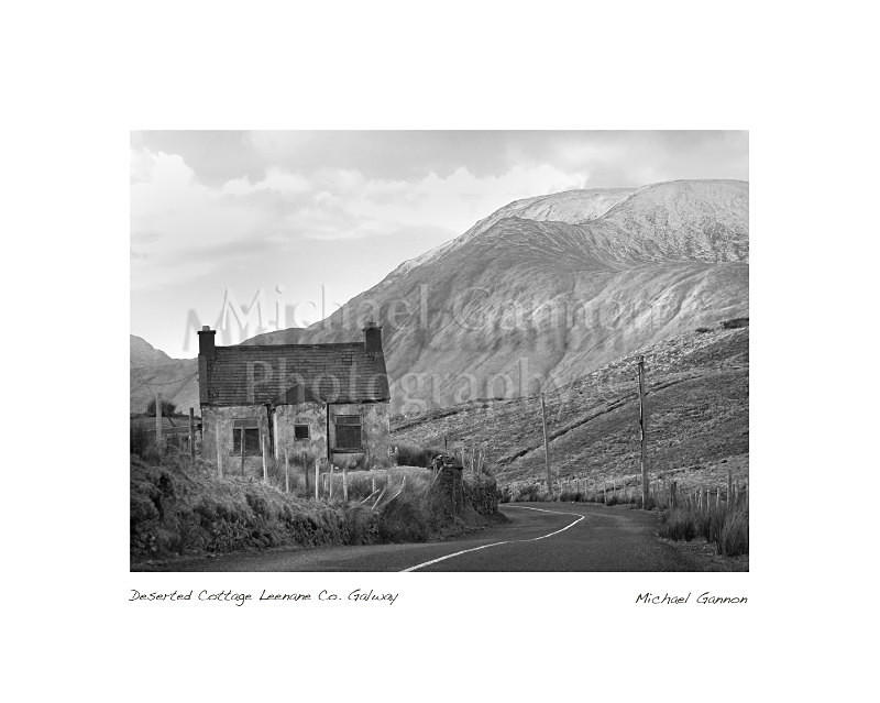 Deserted Cottage Leenane Co Galway 1 - Landscape Black and White