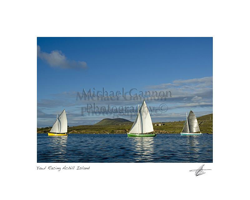 Yawl Race Achill Island. - Landscape Colour
