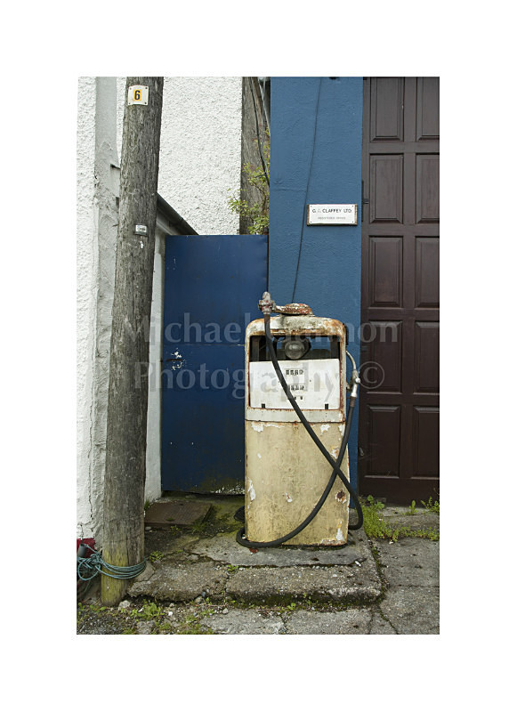 Portumna Co Galway - Derelict Petrol Pumps