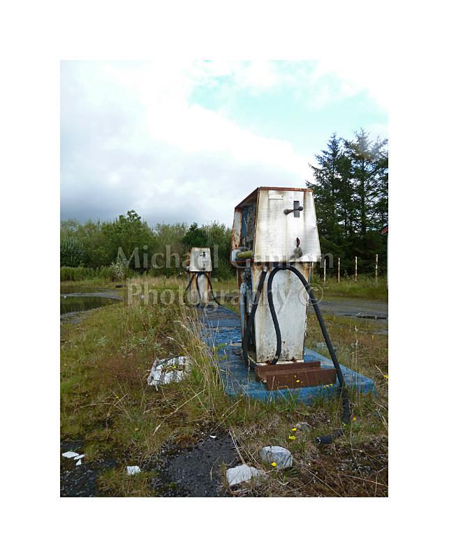 Claremorris Co Mayo 2 - Derelict Petrol Pumps