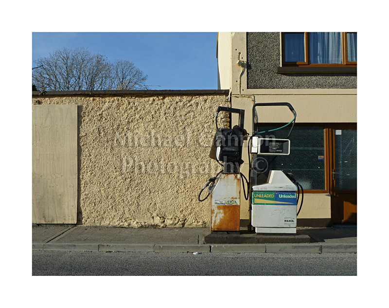 Oughterard Co Galway - Derelict Petrol Pumps
