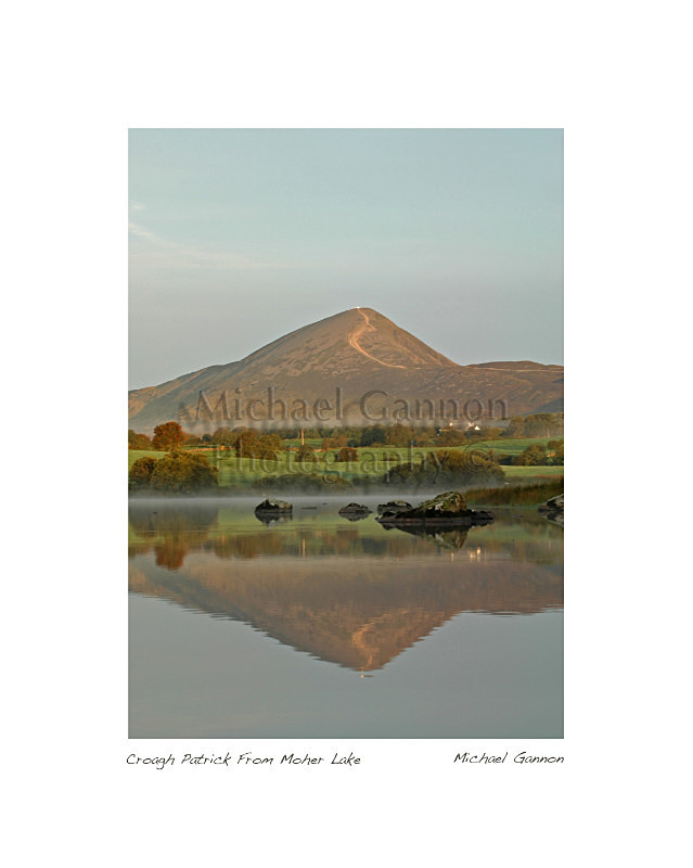 Croagh Patrick From Moher Lake - Landscape Colour