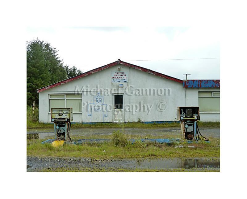 Claremorris Co Mayo - Derelict Petrol Pumps
