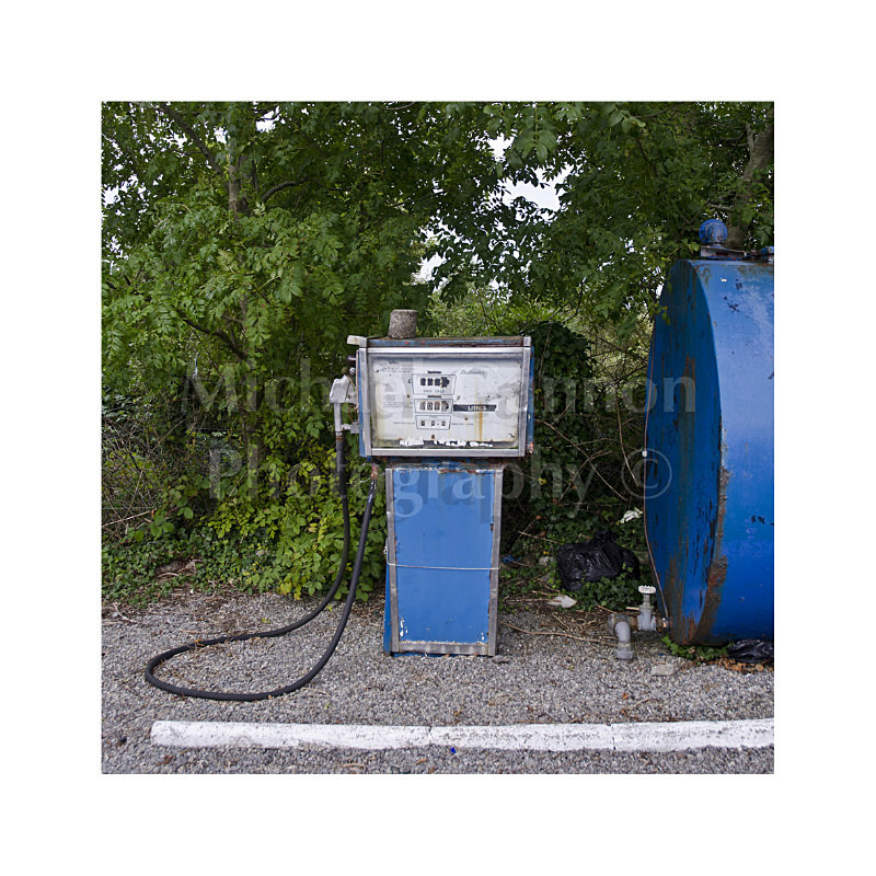 Ballina Co Mayo - Derelict Petrol Pumps