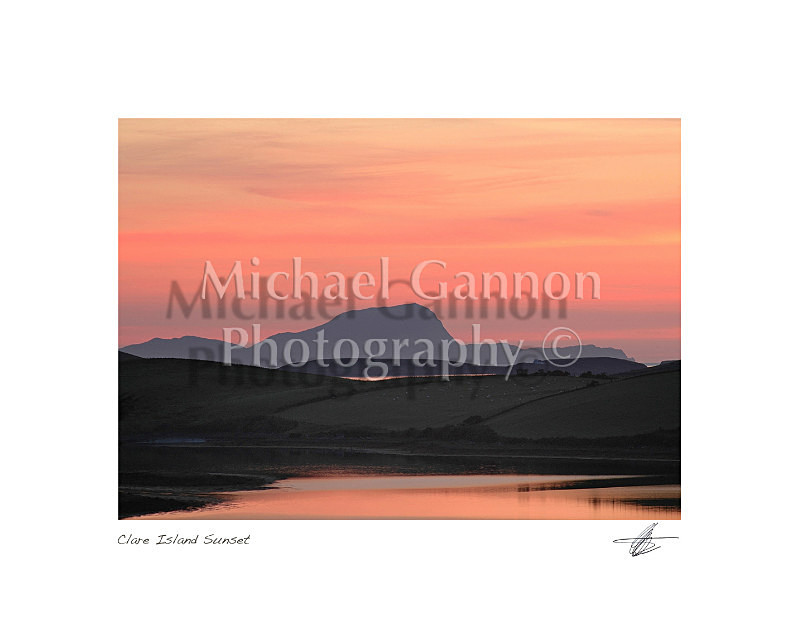 Clare Island Sunset - Landscape Colour