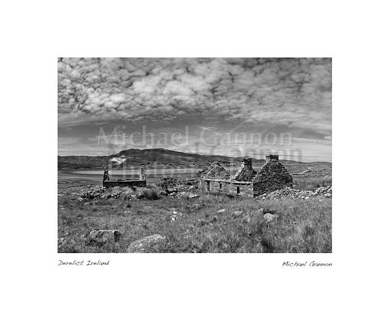 Derelict Ireland - Landscape Black and White