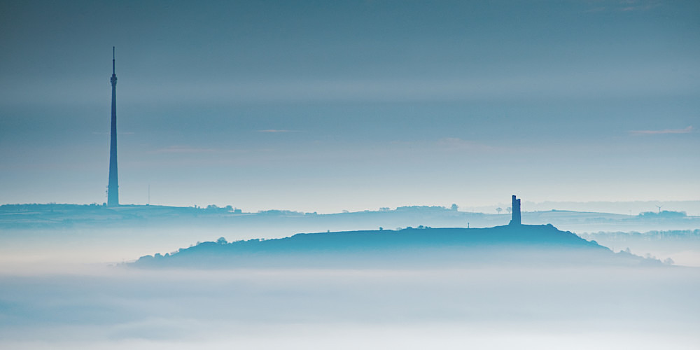 Two Towers in the Mist - Yorkshire