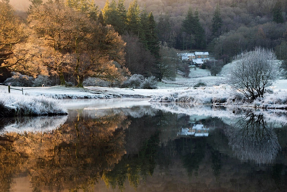Brathay Frosty Sunrise - The Lake District