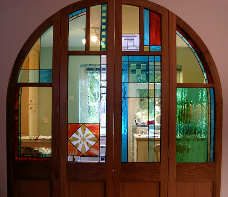 Arched doors | Carole Gray | Stained glass commission
