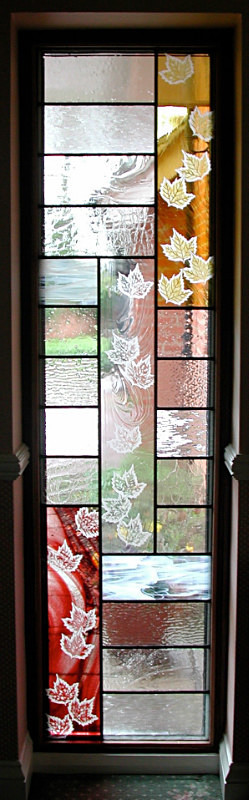 Falling leaves | Carole Gray | Stained glass commission