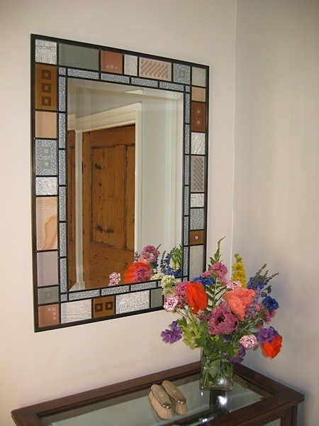 Hall mirror | Carole Gray | Stained glass commission