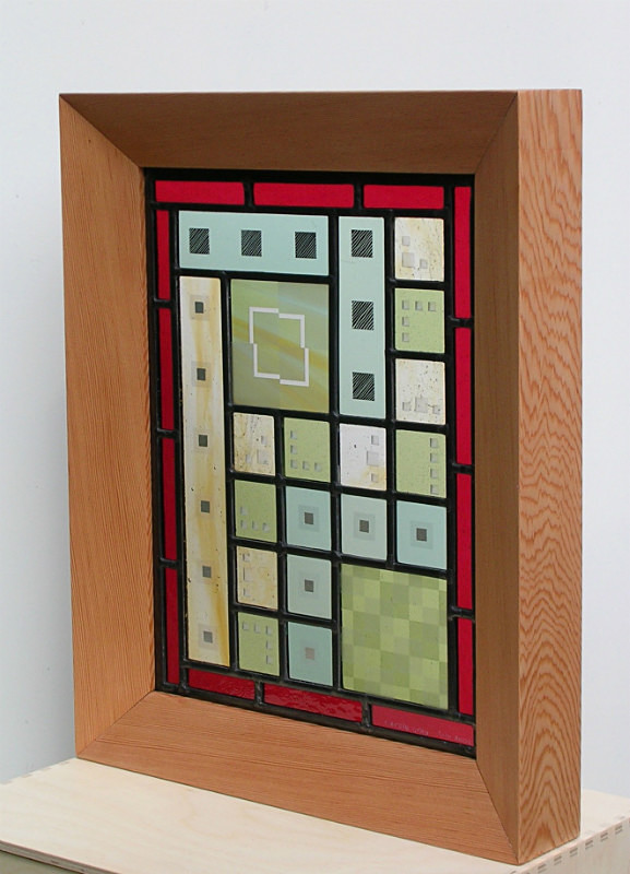 Framed panel | Carole Gray | Stained glass commission