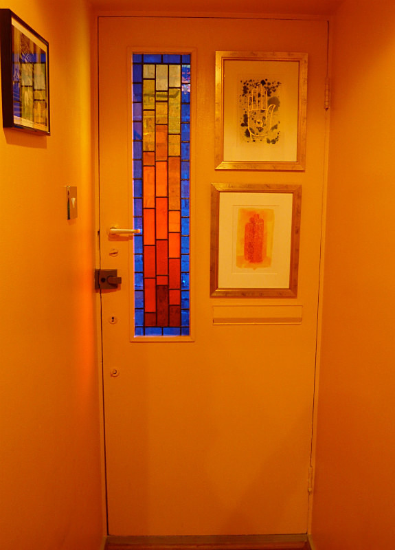 Front door, 1960s flat | Carole Gray | Stained glass commission
