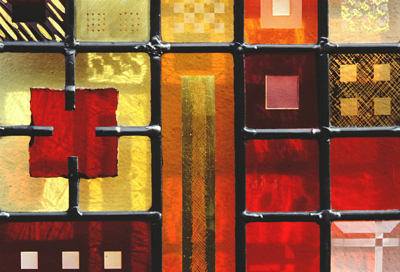 Red panel | Carole Gray | Stained glass commission