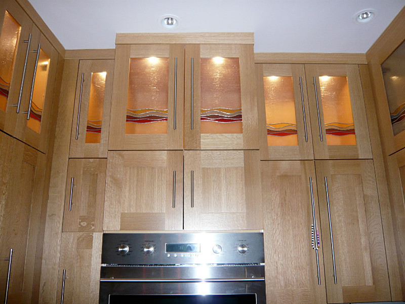 Kitchen cabinets | Carole Gray | Stained glass commissions