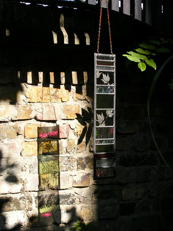 Garden glass hangings | Carole Gray | Stained glass commission
