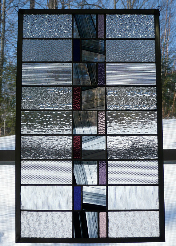 Vermont winter | Carole Gray | Stained glass commission
