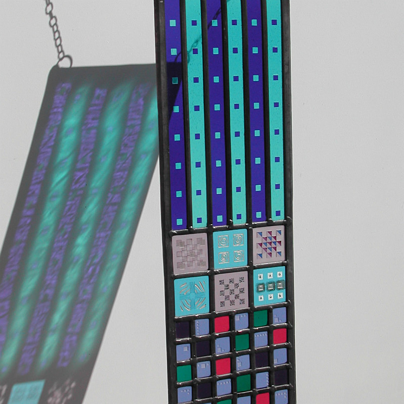 Blue panel | Carole Gray | Stained glass commission