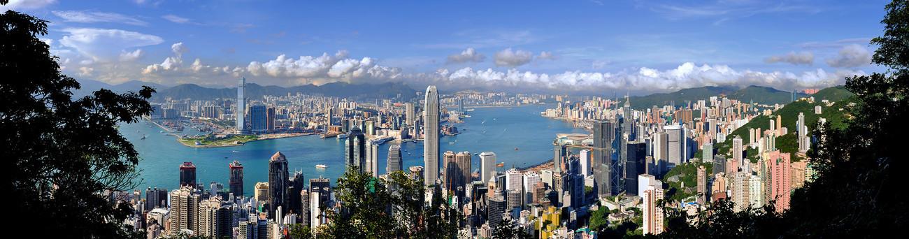 KMPAN-00 Harbour from the Peak - 2010 - Panoramas of Hong Kong - comtemporary