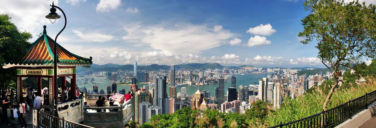 KMPAN-08 The Harbour from the Peak Pagoda - Panoramas of Hong Kong - comtemporary