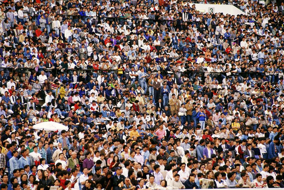 KM-220 Race crowd at Shatin - 1995 - Hong Kong - Contemporary