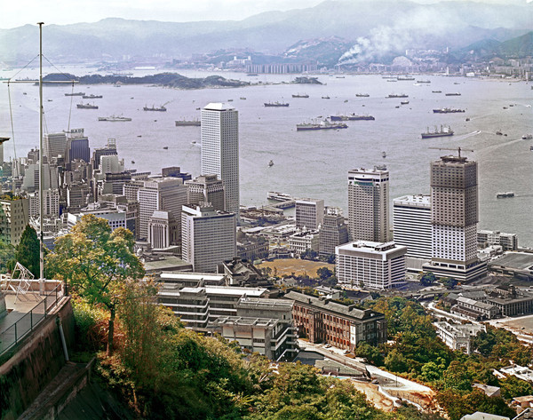 KM-60 Central & the cricket ground from Magazine Gap - 1974 - Hong Kong in the 70s and 80s