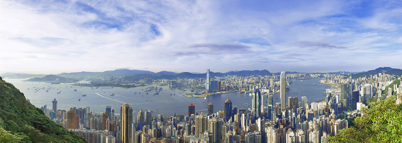 KMPAN-04 The Harbour from the Peak  - 2015 - Panoramas of Hong Kong - comtemporary