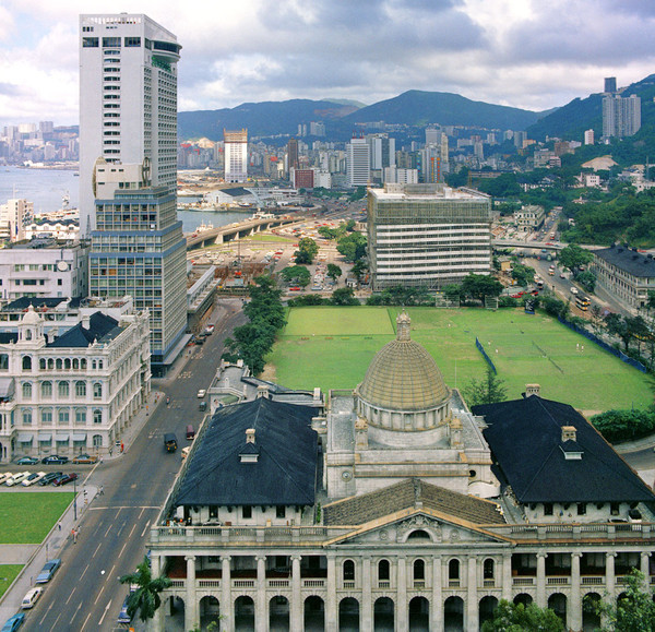 KM-78 Cricket pitch, Furama Hotel & Supreme Court - 1974 - Hong Kong in the 70s and 80s