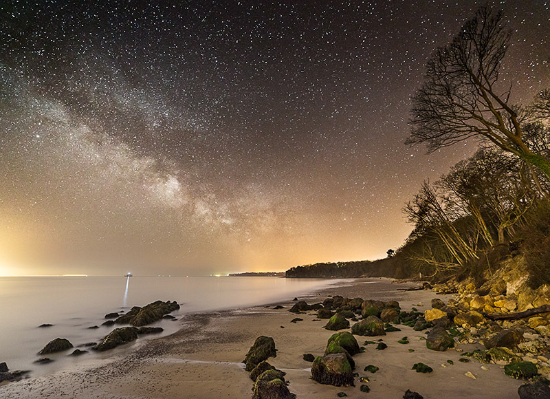 1373 Milky Way Priory Bay - The Isle of Wight at Night landscapes